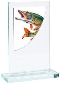 Skleněná rybářská trofej